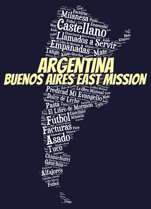 Buenos Aires East Mission LDS logo tshirt