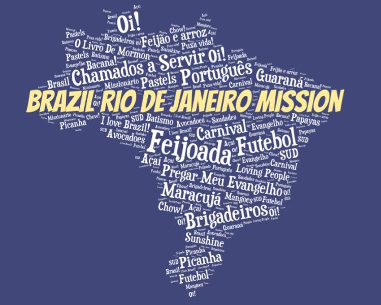 LDS Brazil Rio De Janeiro Mission logo tshirt