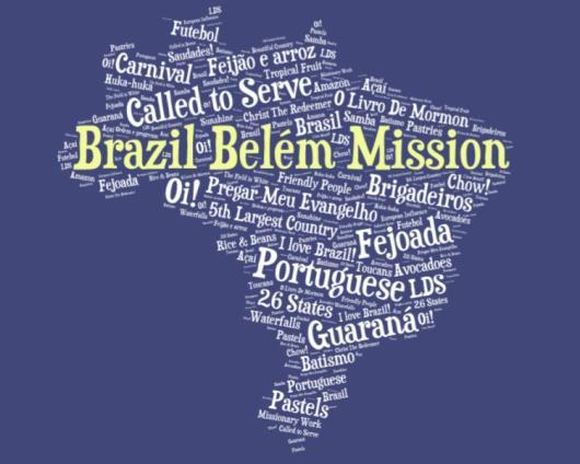 LDS Brazil Belem Mission logo tshirt