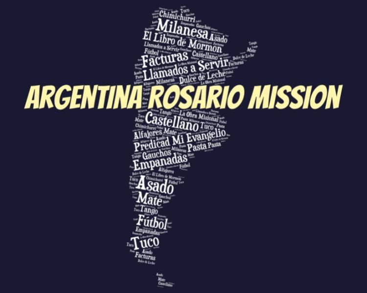 LDS Argentina Rosario Mission logo tshirt