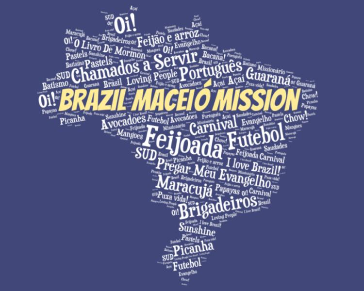 LDS Brazil Maceio Mission logo tshirt