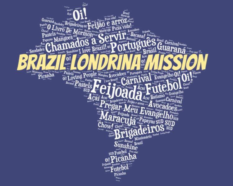 LDS Brazil Londrina Mission logo tshirt