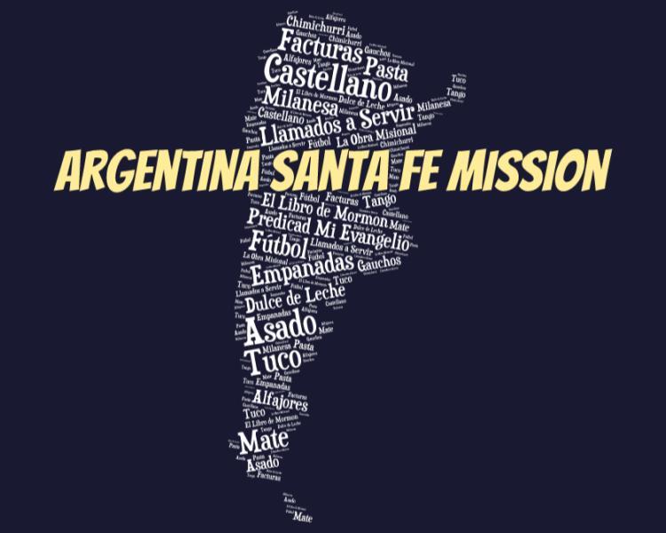 LDS Argentina Santa Fe Mission logo tshirt