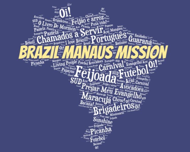 LDS Brazil Manaus Mission logo tshirt