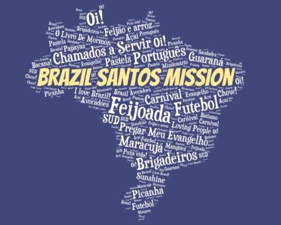 LDS Brazil Santos Mission logo tshirt