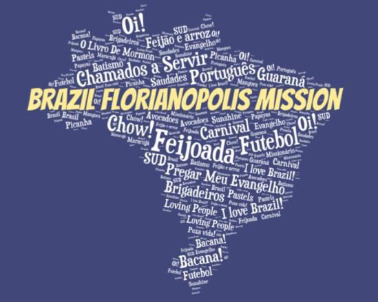 LDS Brazil Florianapolis Mission logo tshirt