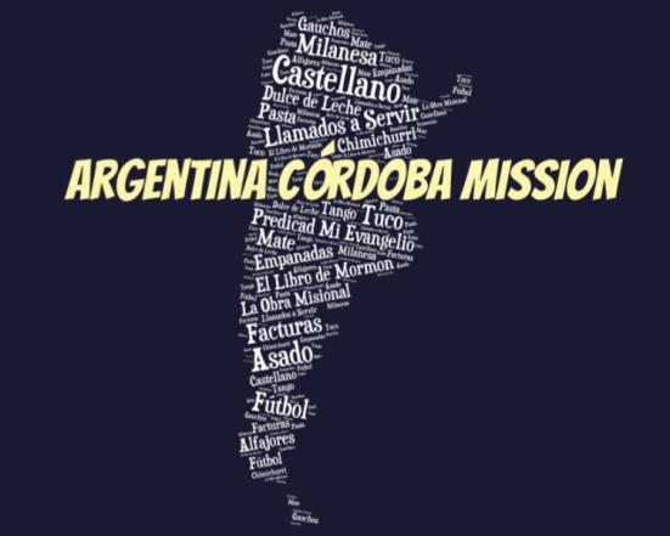 LDS Argentina Cordoba Mission logo tshirt