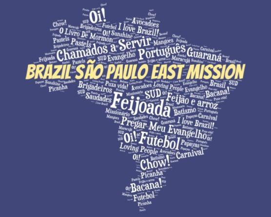 LDS Brazil Sao Paulo East mission logo tshirt