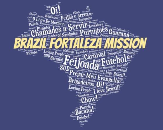 LDS Brazil Fortaleza mission logo tshirt