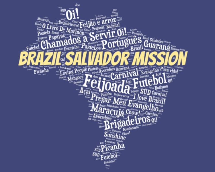 LDS Brazil Salvador Mission logo tshirt
