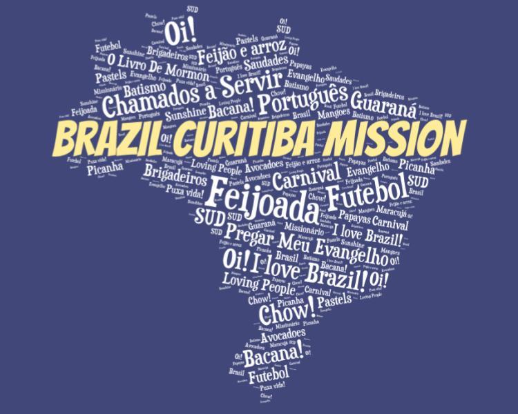 LDS Brazil Curitiba Mission logo tshirt