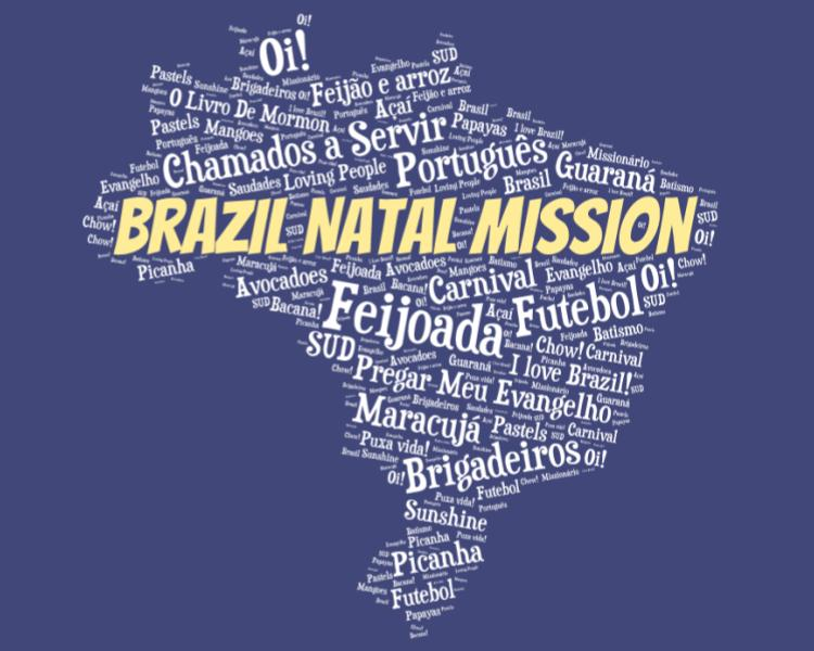 LDS Brazil Natal Mission logo tshirt