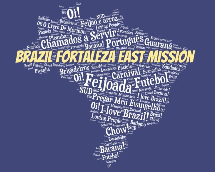 LDS Brazil Fortaleza east mission logo tshirt
