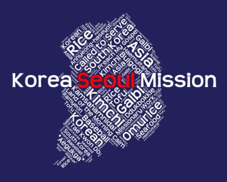 Korea Seoul Mission LDS logo tshirt