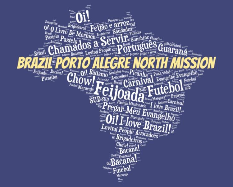 LDS Brazil Porto Alegre North Mission logo tshirt