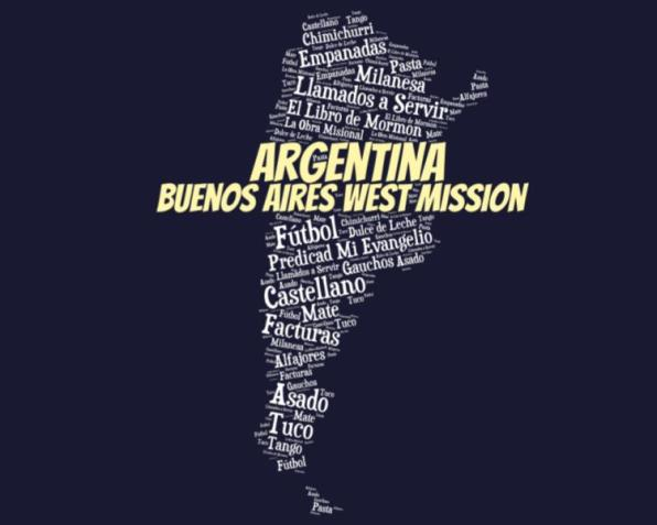 LDS Buenos Aires West Mission Logo Tshirt