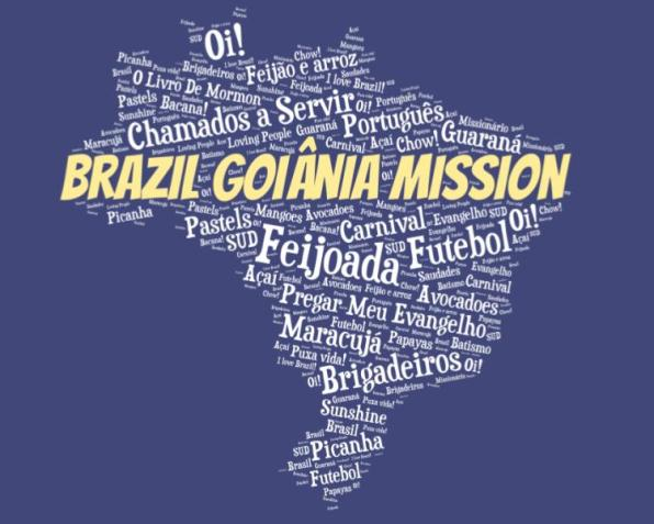 LDS Brazil Goiania Mission logo tshirt