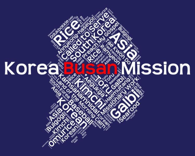 Korea Busan Mission LDS logo tshirt