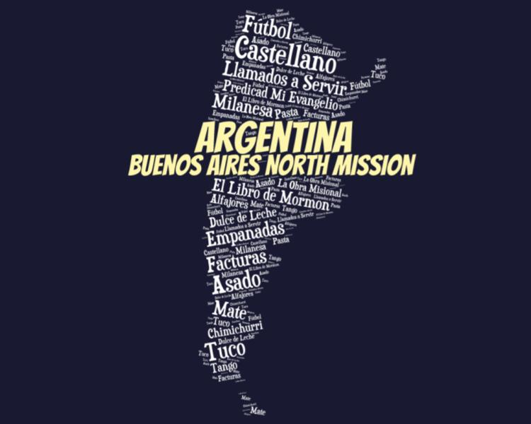 Buenos Aires North Mission LDS logo tshirt