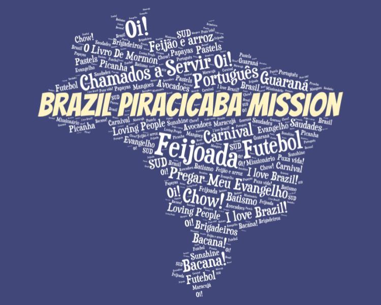 LDS Brazil Piracicaba Mission logo tshirt