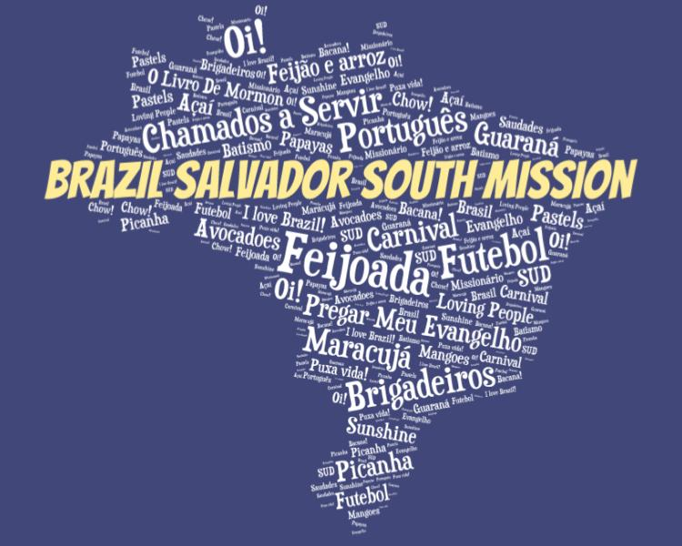 LDS Brazil Salvador South Mission logo tshirt