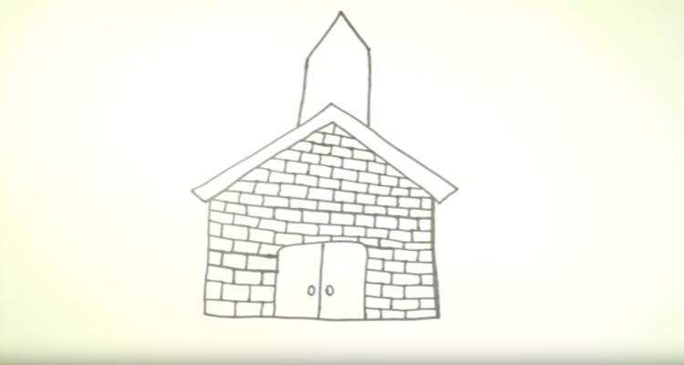 How To Draw Church brick walls