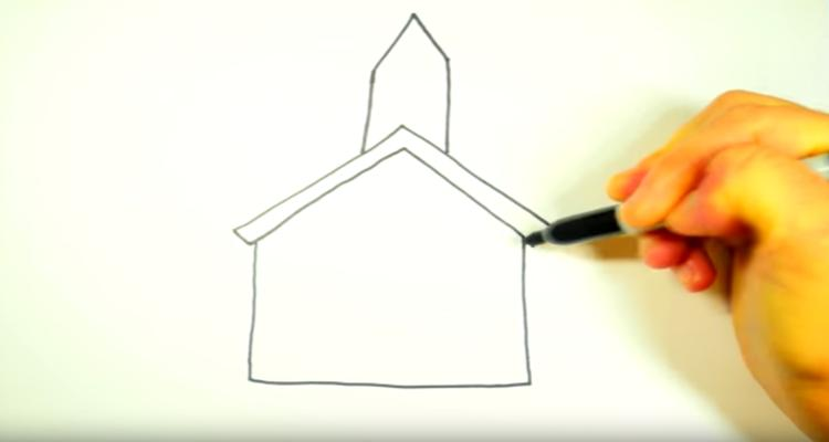 How To Draw Church walls