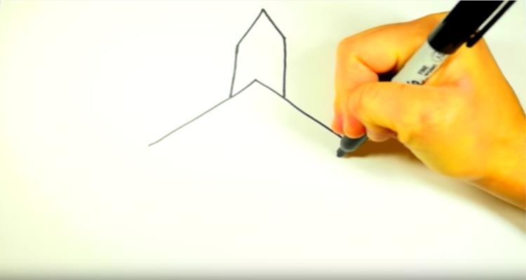 how-draw-church-steeple