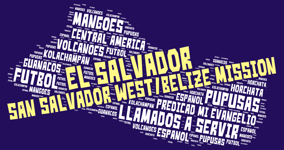 San Salvador West Belize Mission LDS tshirt word cloud