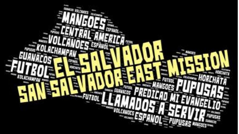 San Salvador mission LDS tshirt word cloud